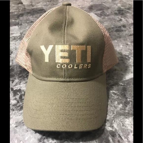 Yeti Cooler Olive Green Trucker Mesh Hat 04e97fcc08d8